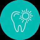 Icono de diente con destello