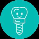 Icono implantes dentales Almería