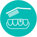 Icono cepillado dientes con brillo Almería