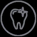 Imagen diente con destello odontología en Almería